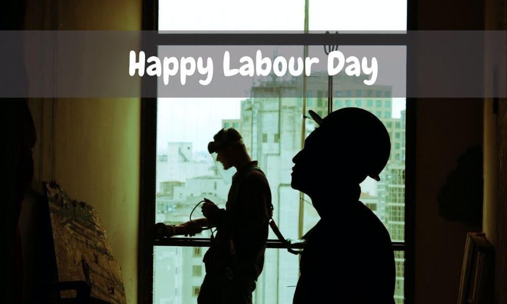 Labor Day Message on Image