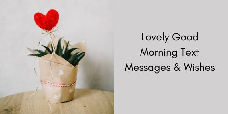 Lovely Good Morning Text Messages & Wishes