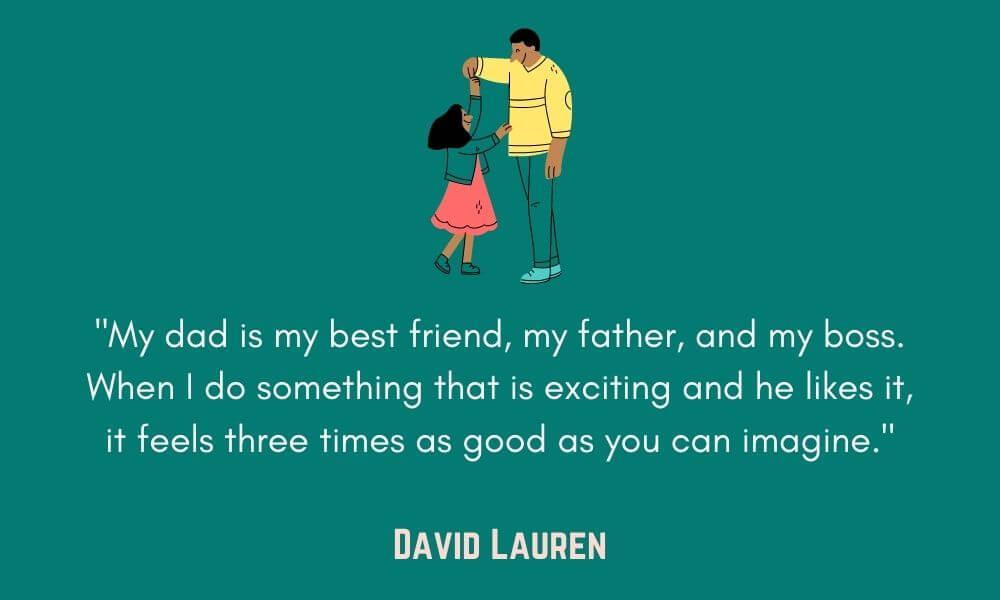 David Lauren Father Quote