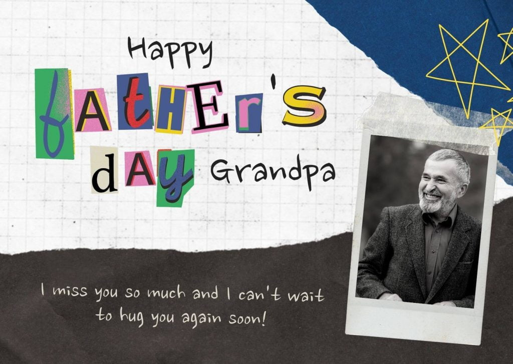 Happy Father's Day Greetings Card for Grand Papa