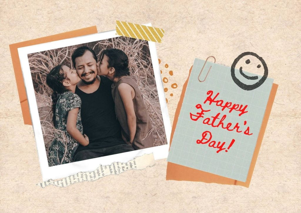Happy Father's Day Wishing Card  From Daughters
